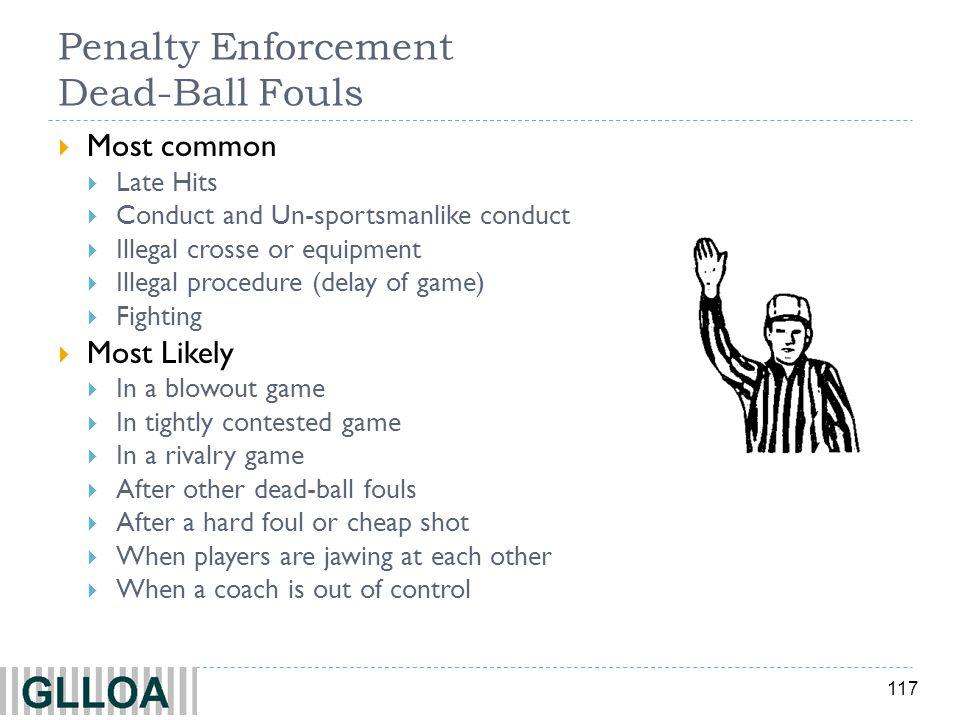Penalty Enforcement Dead-Ball Fouls