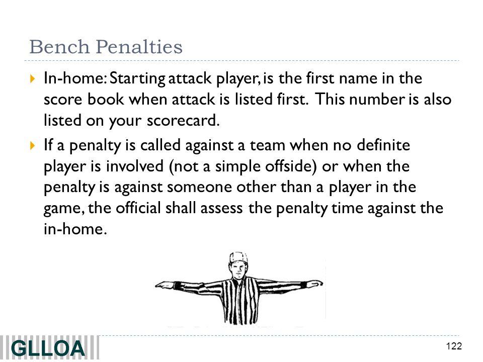 Bench Penalties