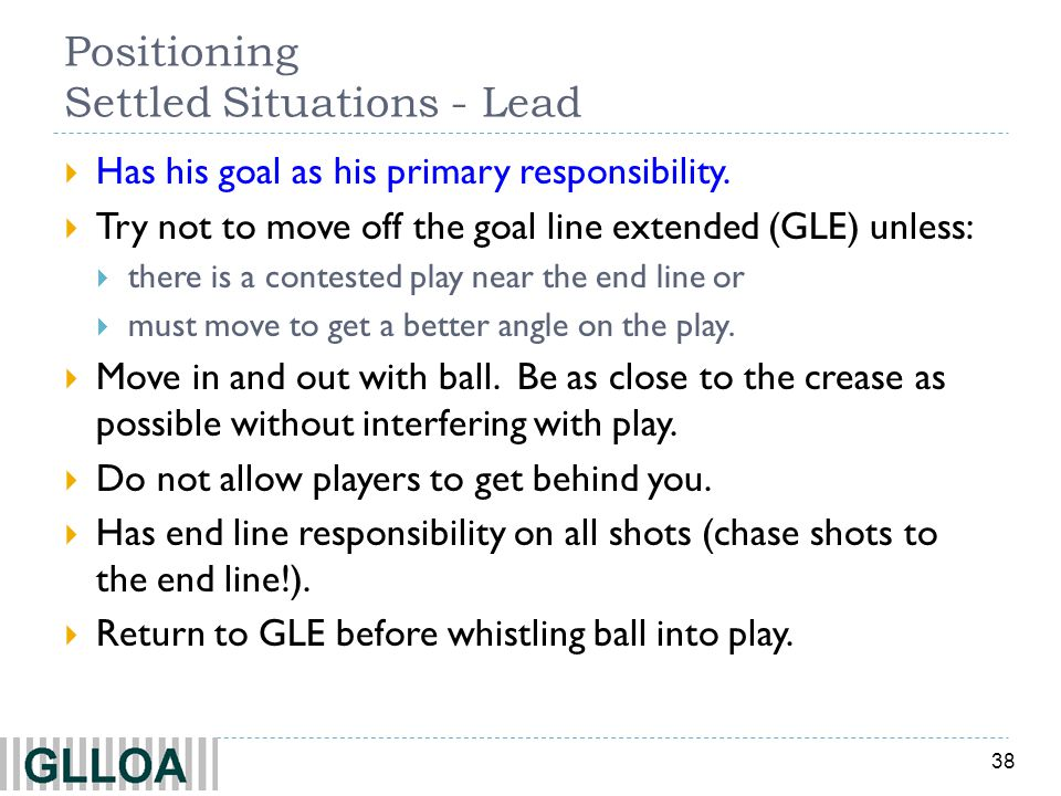 Positioning Settled Situations - Lead