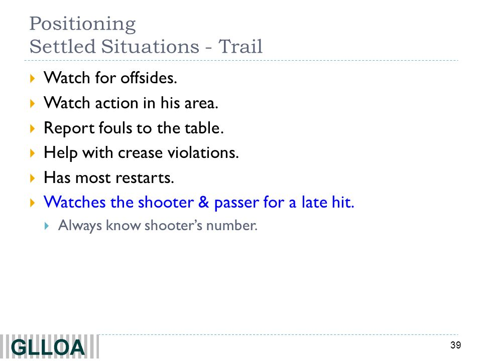 Positioning Settled Situations - Trail