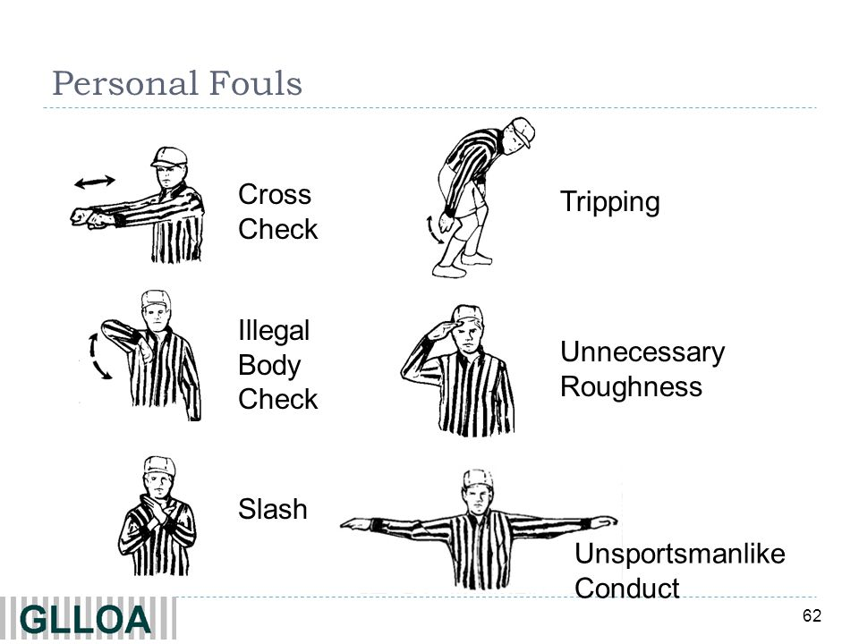 Personal Fouls Cross Check Tripping Illegal Body Check