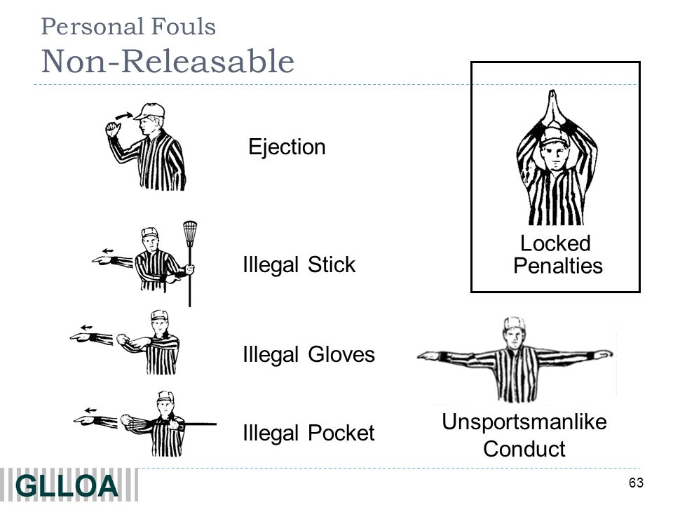Personal Fouls Non-Releasable