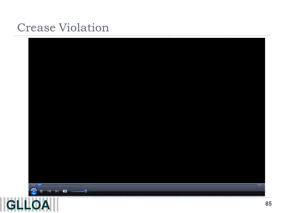 Crease Violation