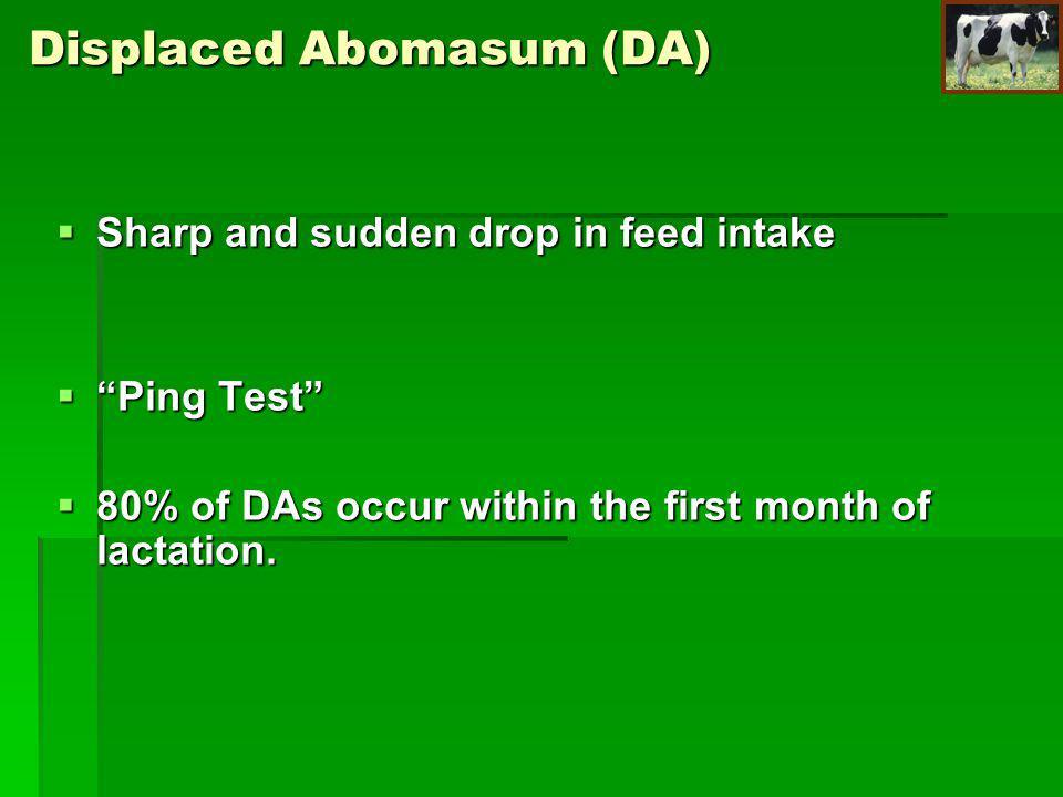 Displaced Abomasum (DA)