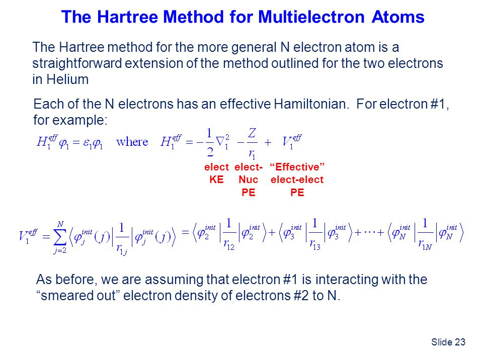 The Hartree Method for Multielectron Atoms