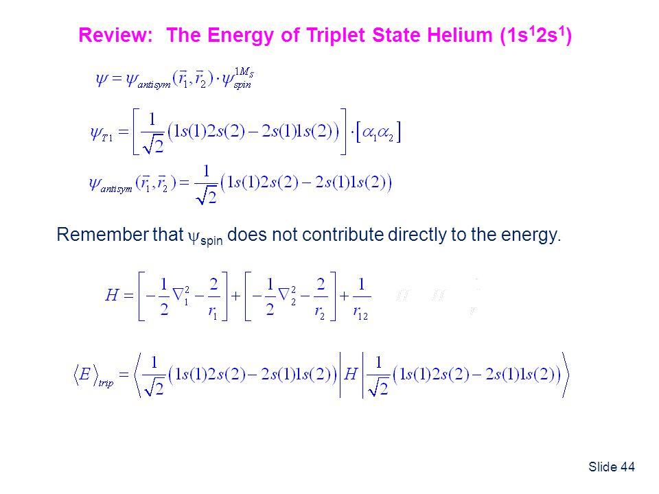 Review: The Energy of Triplet State Helium (1s12s1)