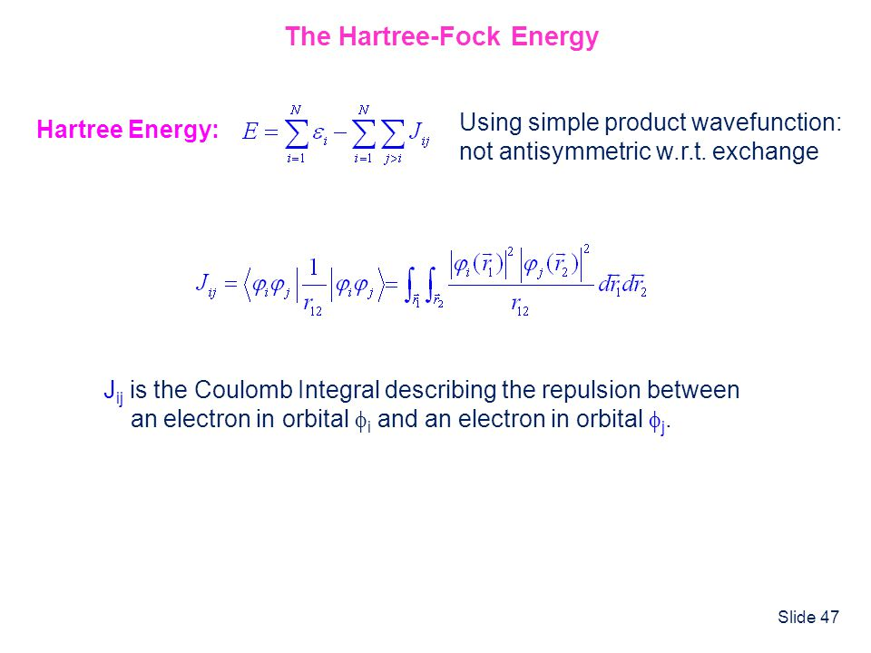The Hartree-Fock Energy