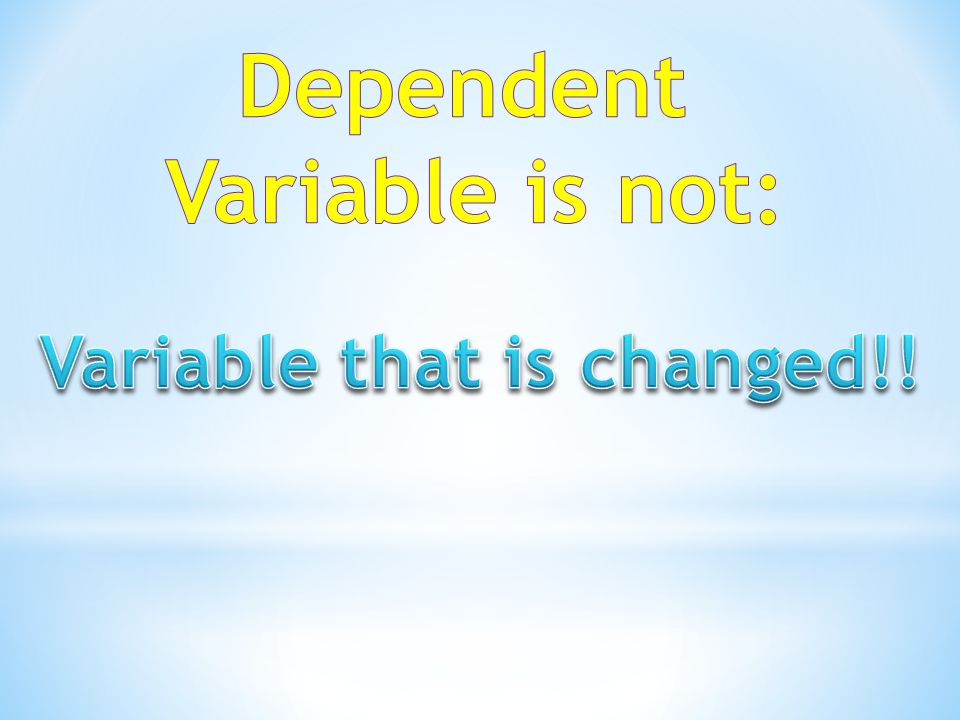 Variable that is changed!!