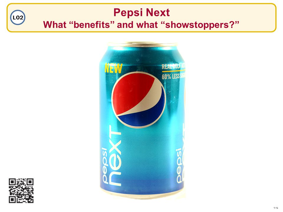 Pepsi Next What benefits and what showstoppers