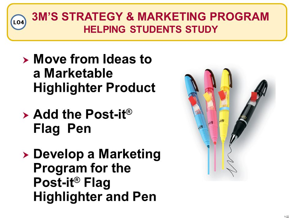 3M'S STRATEGY & MARKETING PROGRAM HELPING STUDENTS STUDY
