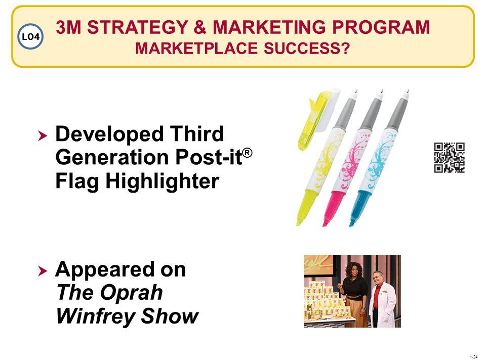 3M STRATEGY & MARKETING PROGRAM MARKETPLACE SUCCESS