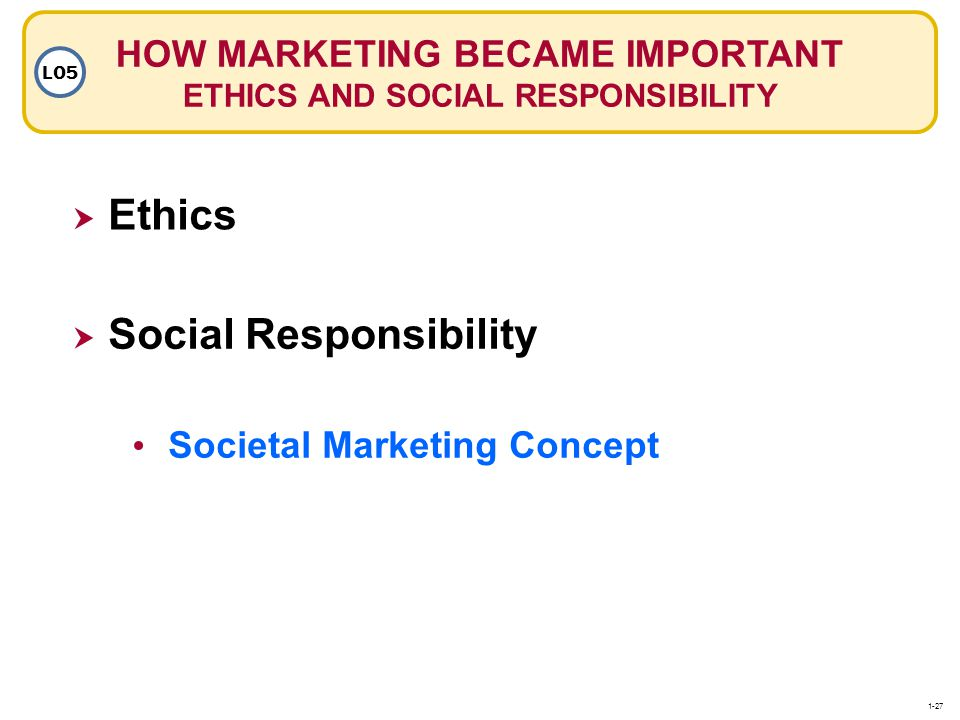 HOW MARKETING BECAME IMPORTANT ETHICS AND SOCIAL RESPONSIBILITY