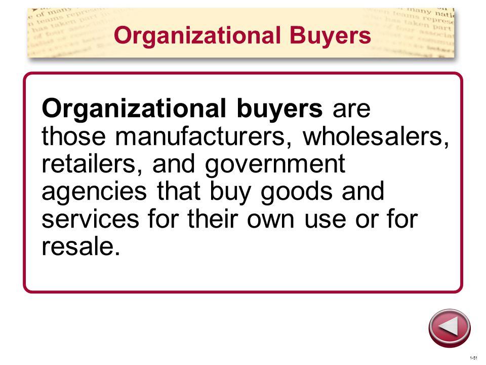 Organizational Buyers