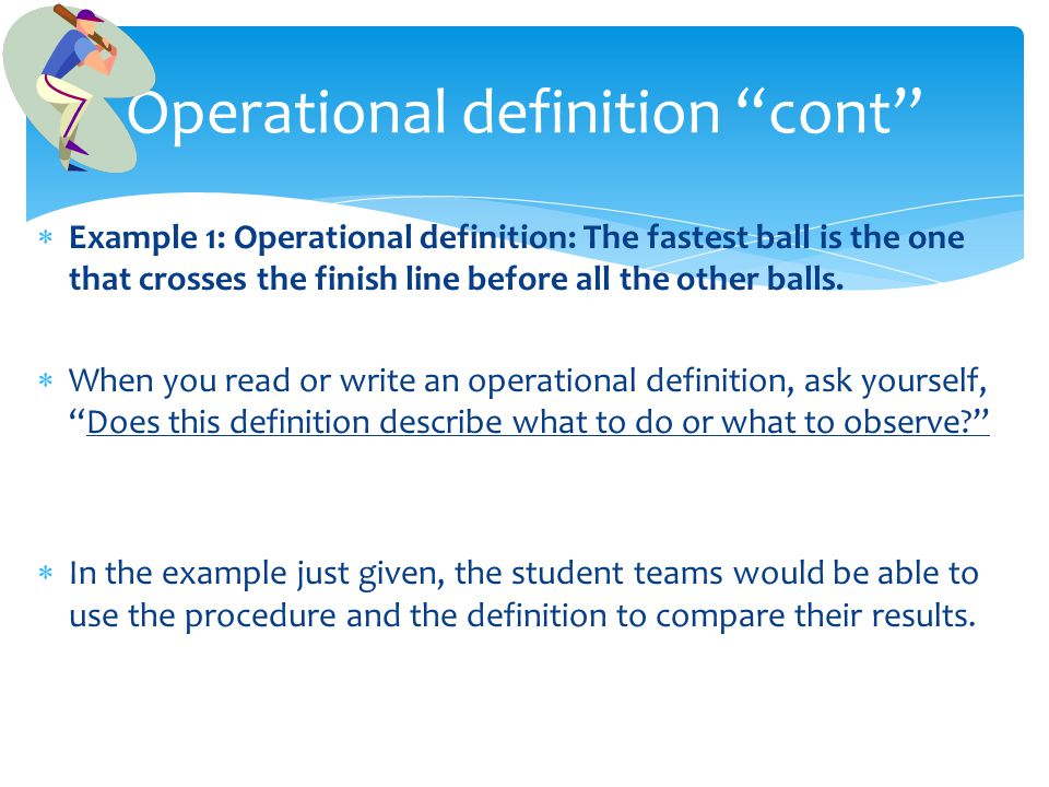 Operational definition cont