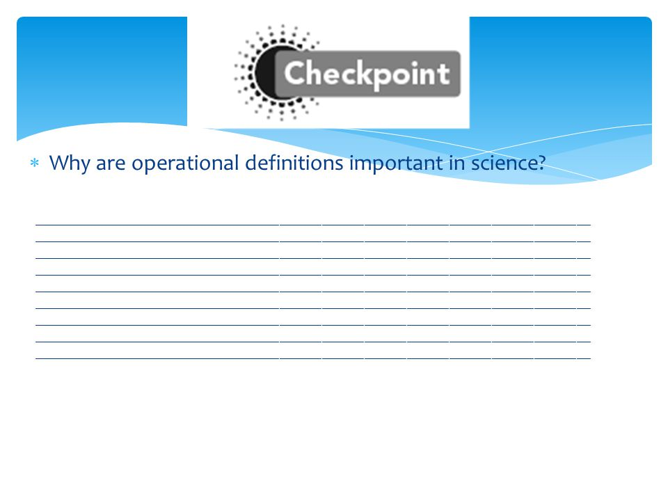 Why are operational definitions important in science