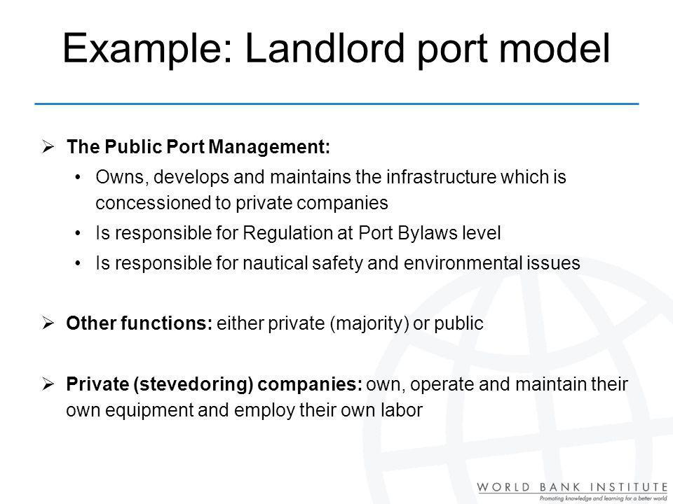 Example: Landlord port model