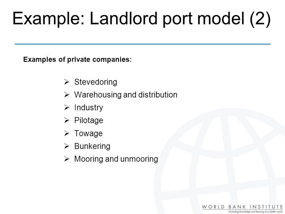 Example: Landlord port model (2)