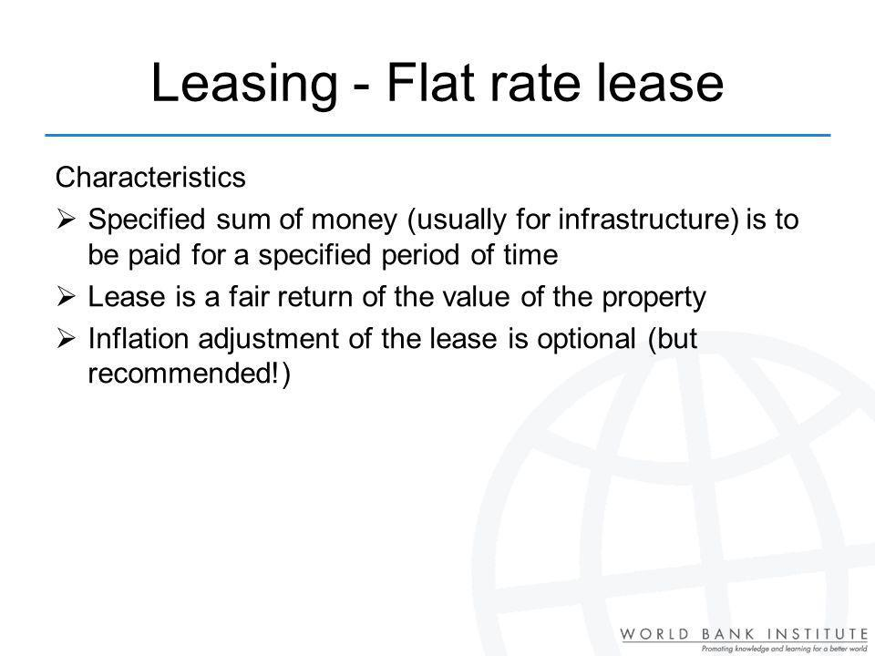 Leasing - Flat rate lease