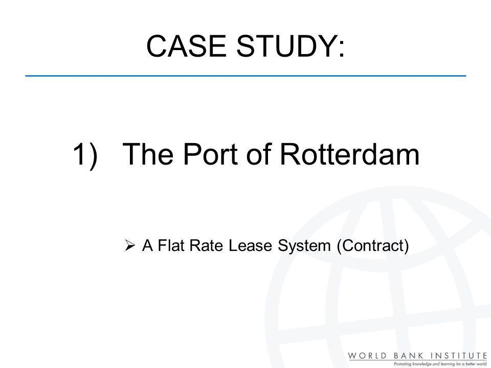 CASE STUDY: 1) The Port of Rotterdam