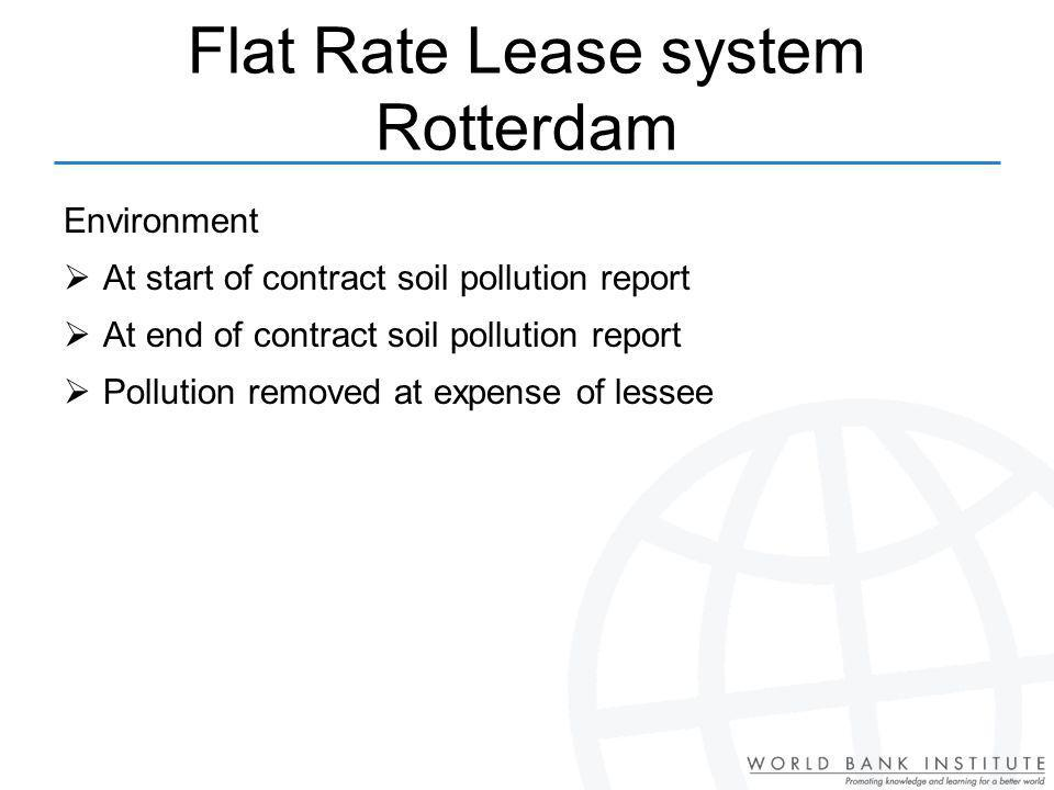 Flat Rate Lease system Rotterdam