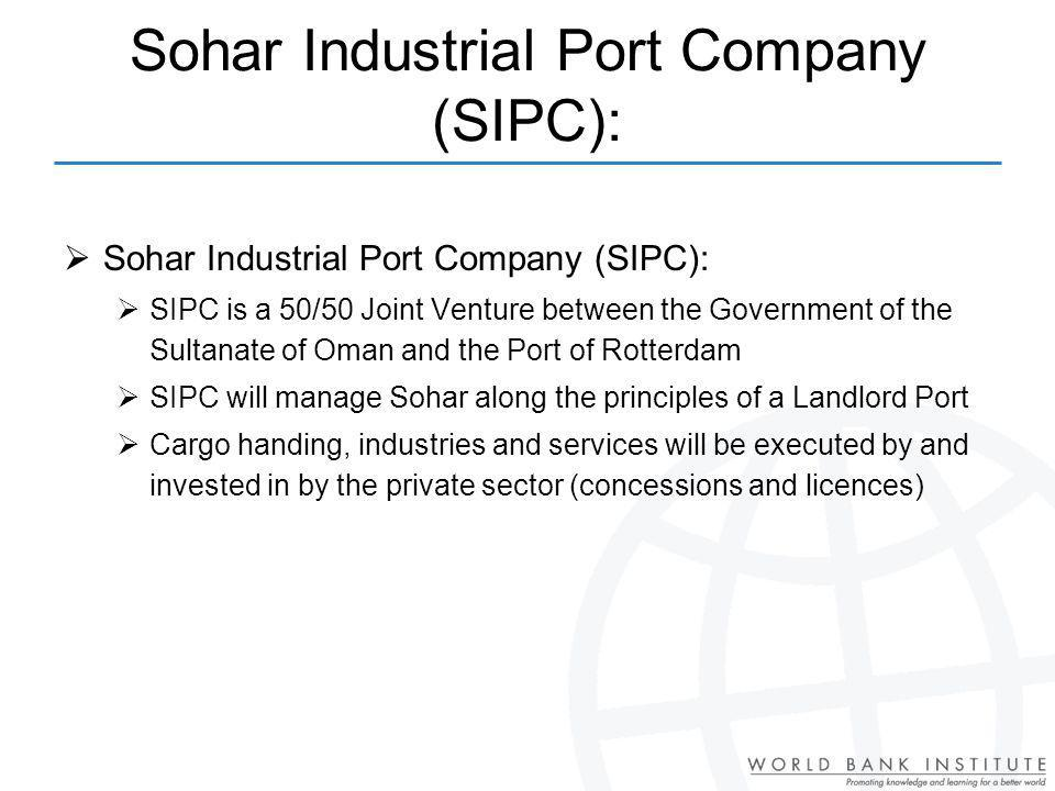 Sohar Industrial Port Company (SIPC):
