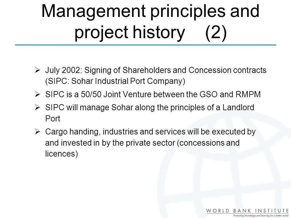 Management principles and project history (2)