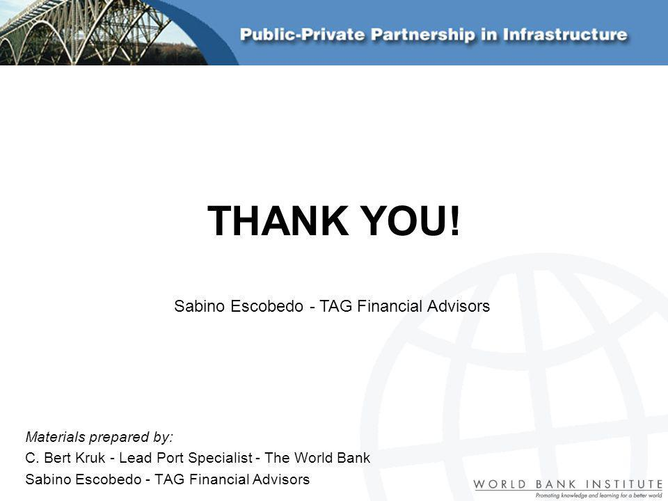 THANK YOU! Sabino Escobedo - TAG Financial Advisors