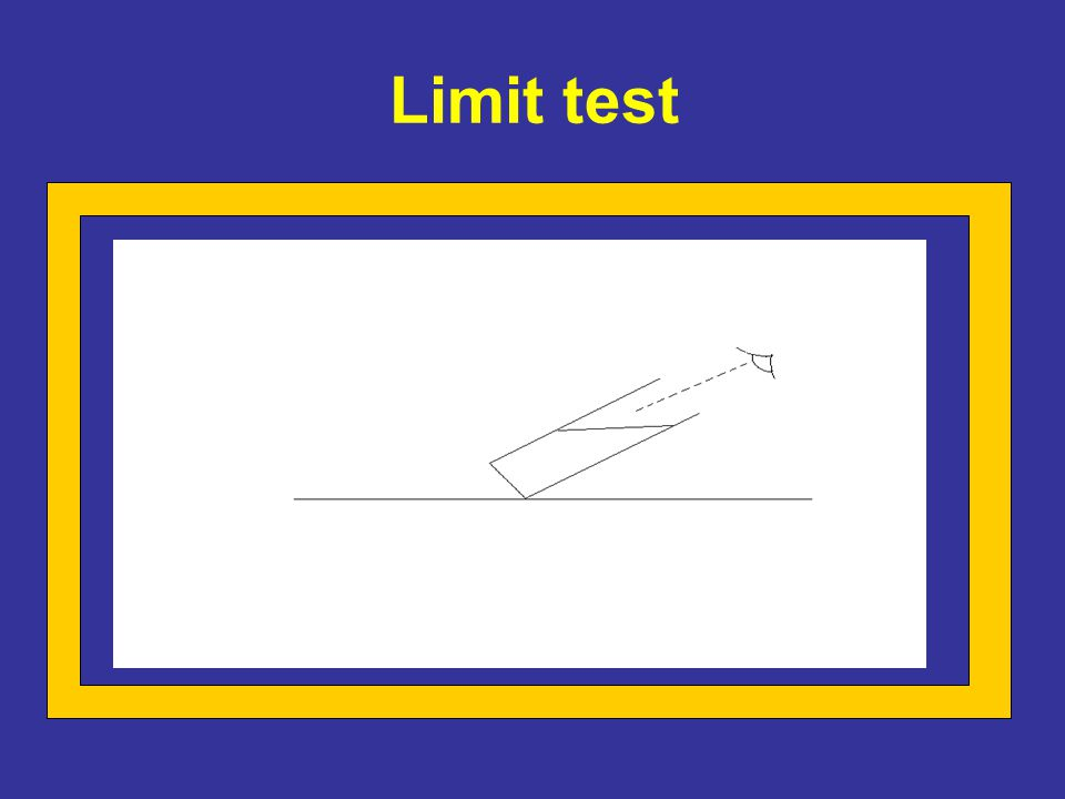 Limit test