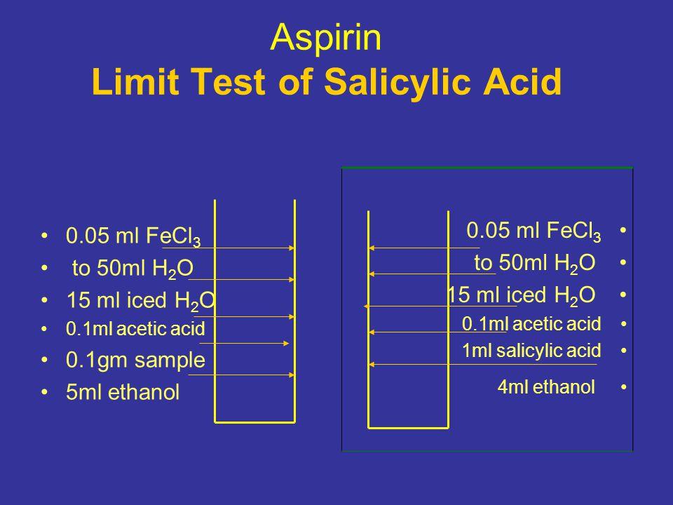 Aspirin Limit Test of Salicylic Acid