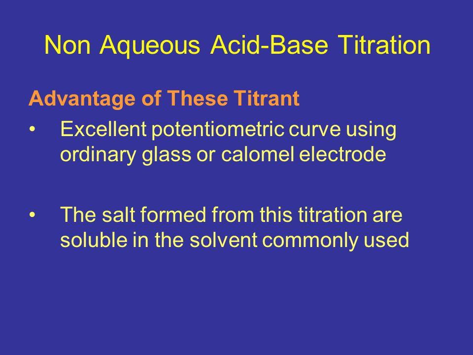 Non Aqueous Acid-Base Titration