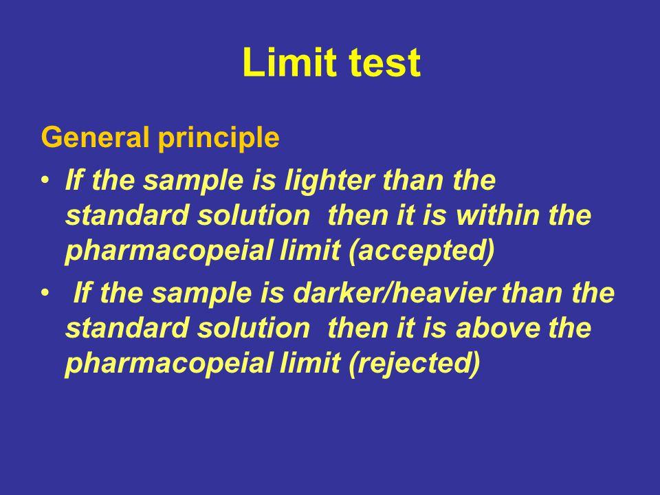 Limit test General principle