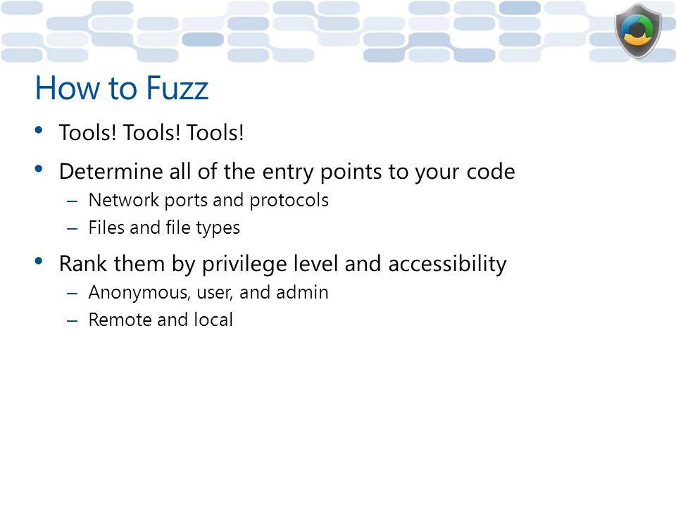 How to Fuzz Tools! Tools! Tools!