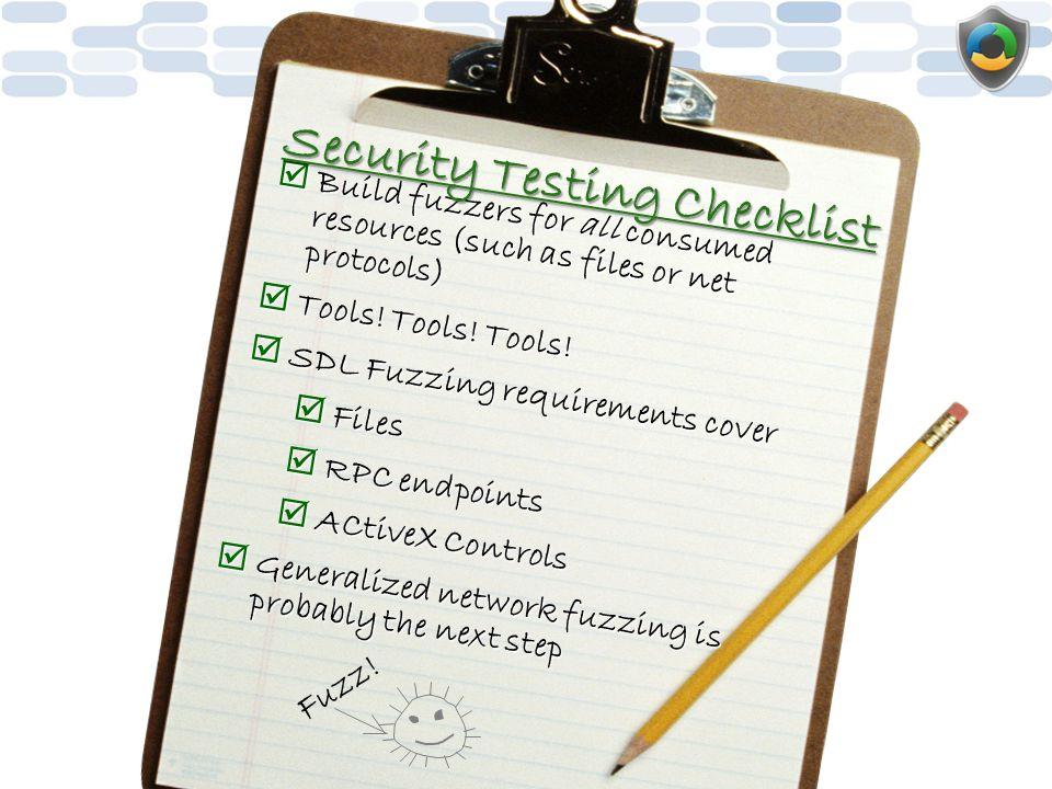 Security Testing Checklist