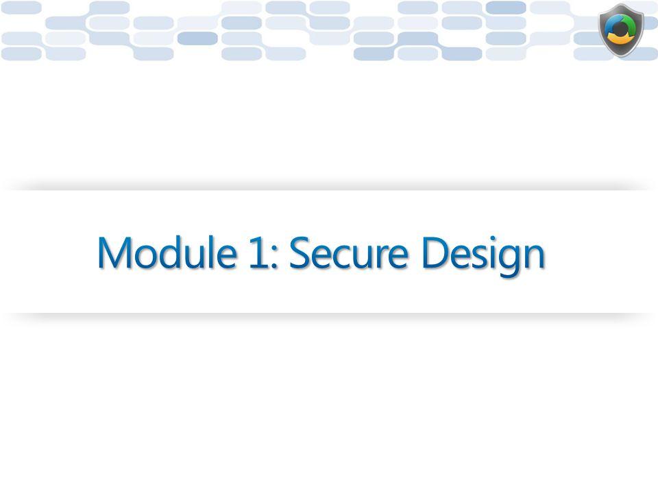 Module 1: Secure Design