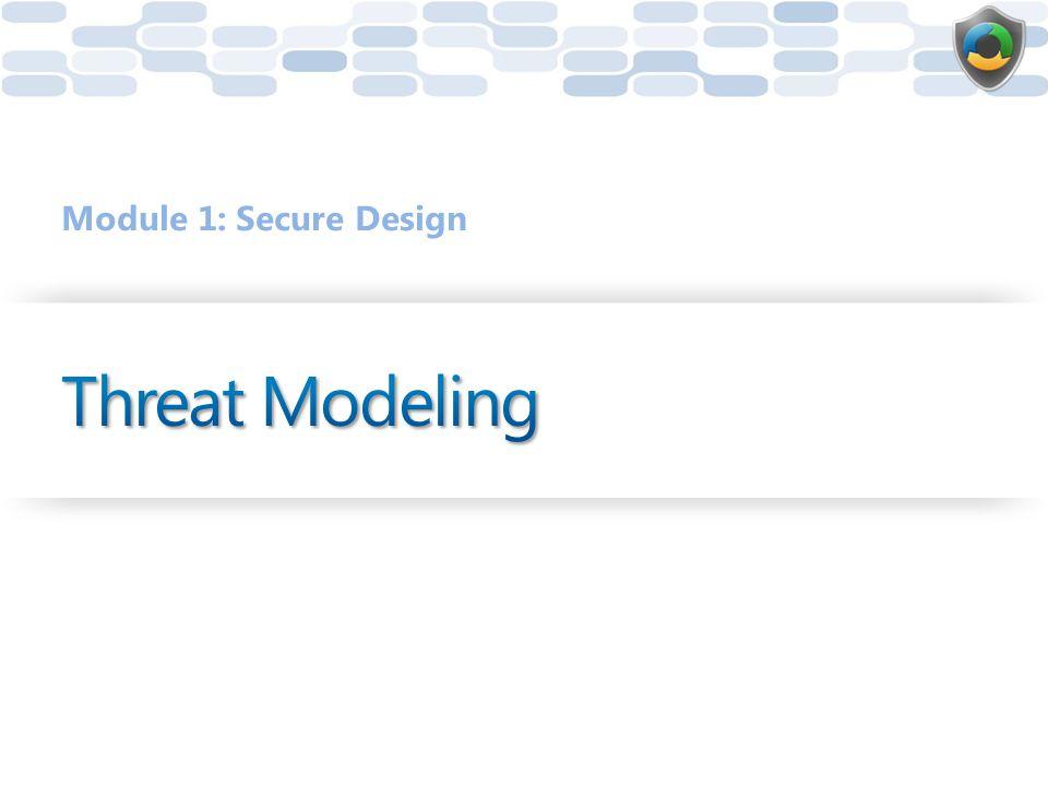 Module 1: Secure Design Threat Modeling