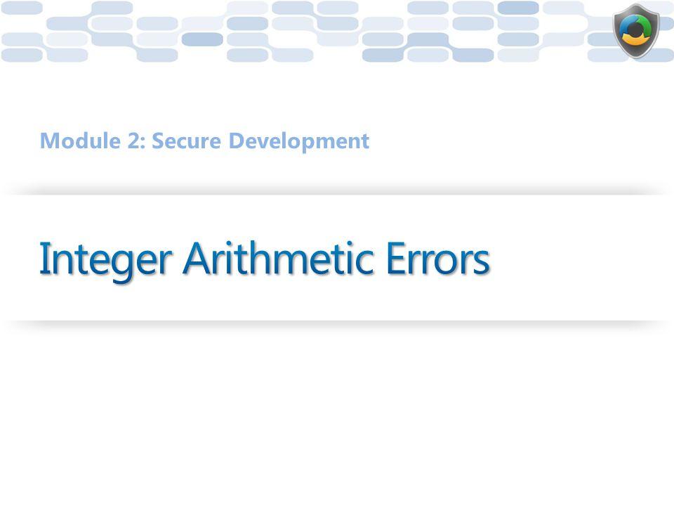 Integer Arithmetic Errors