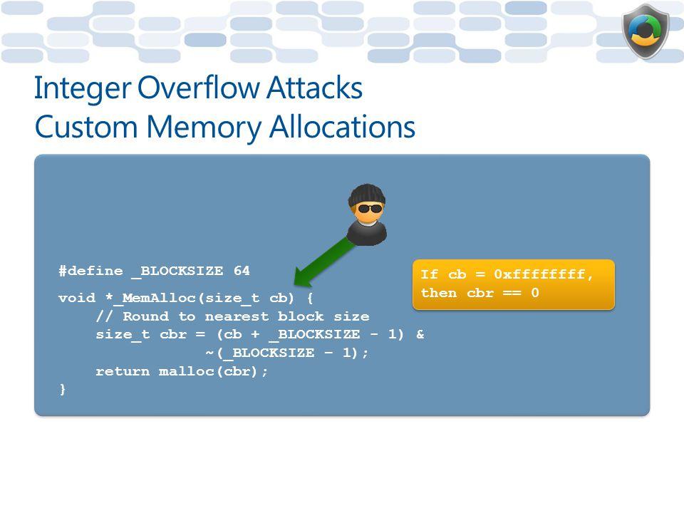 Integer Overflow Attacks Custom Memory Allocations
