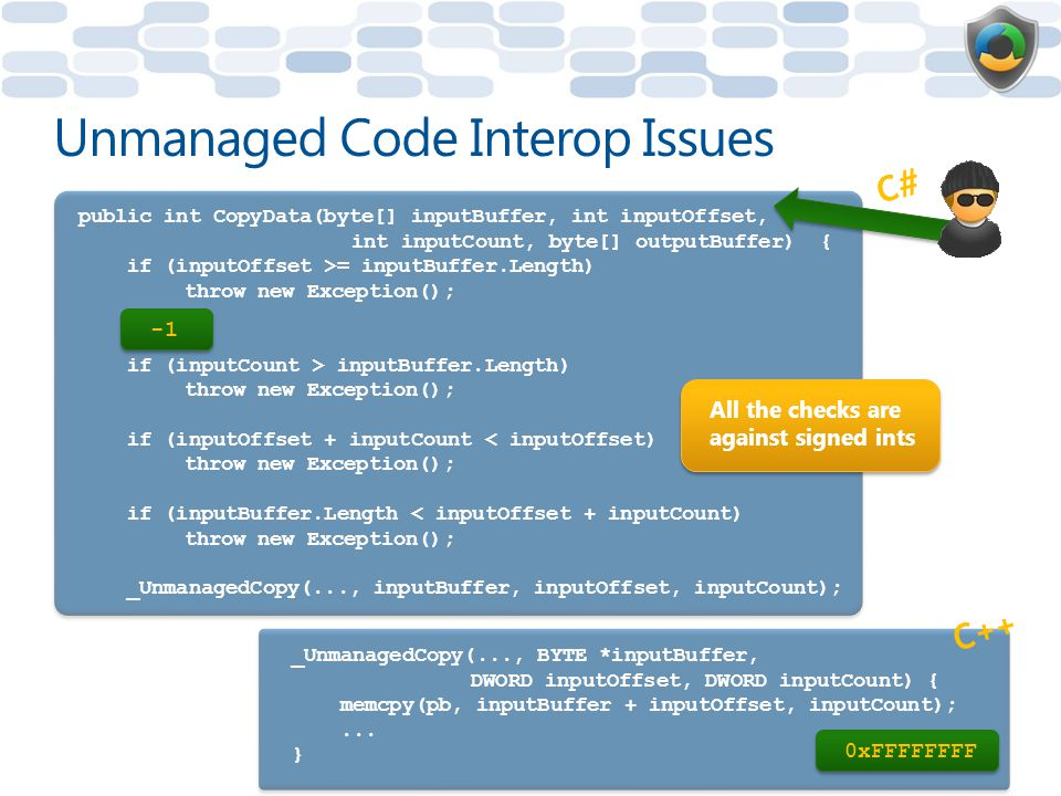 Unmanaged Code Interop Issues