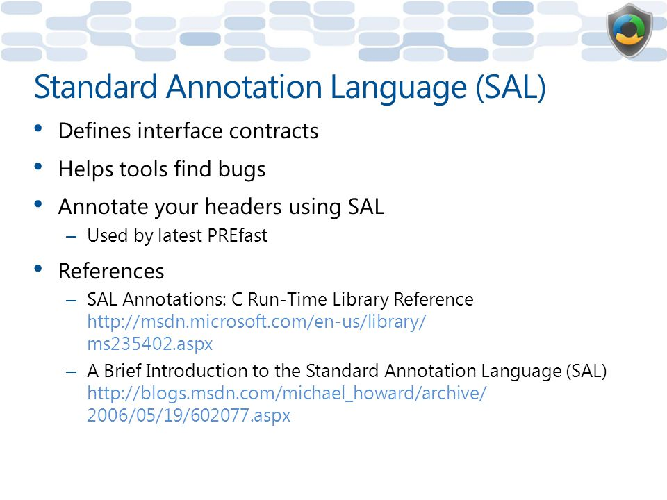 Standard Annotation Language (SAL)