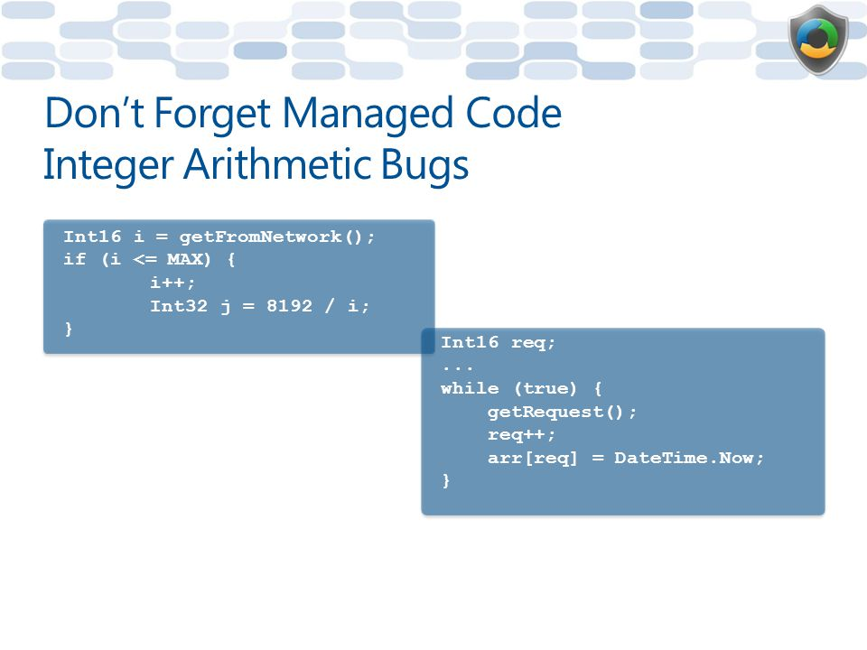 Don't Forget Managed Code Integer Arithmetic Bugs