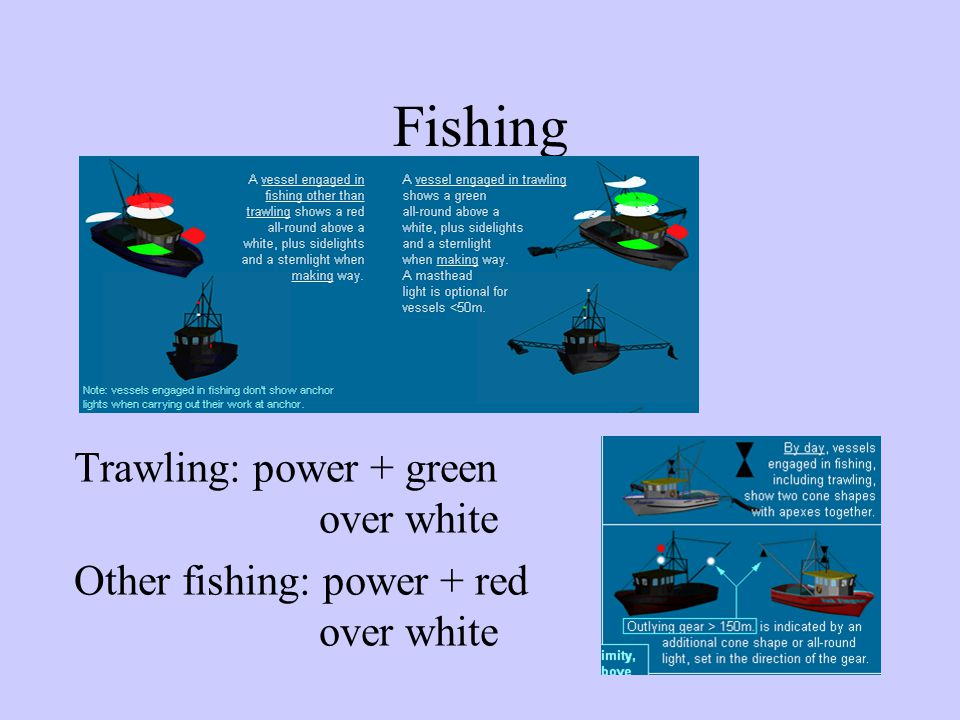 Fishing Trawling: power + green over white
