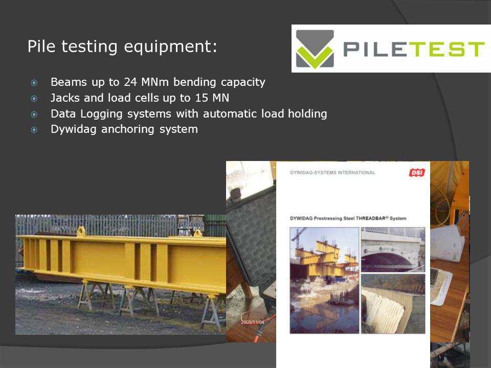 Pile testing equipment: