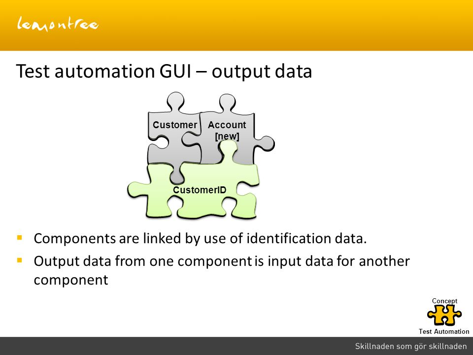 Test automation GUI – output data