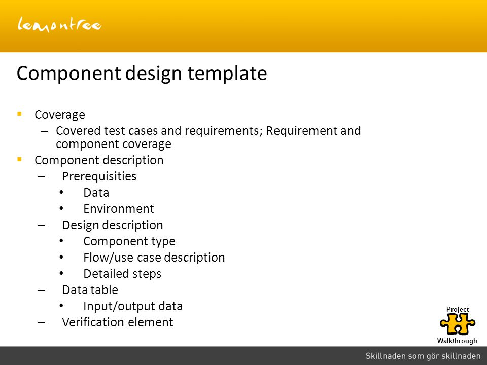 Component design template