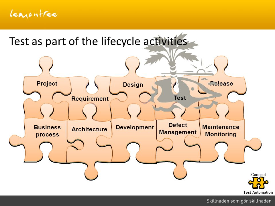 Test as part of the lifecycle activities