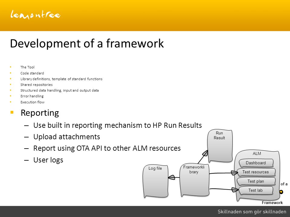 Development of a framework