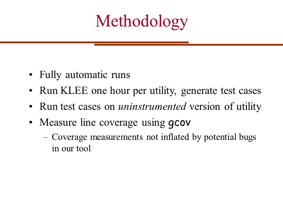 Methodology Fully automatic runs