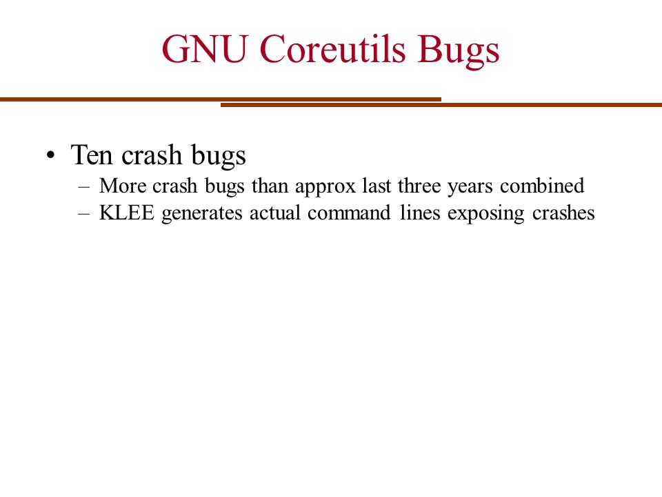 GNU Coreutils Bugs Ten crash bugs