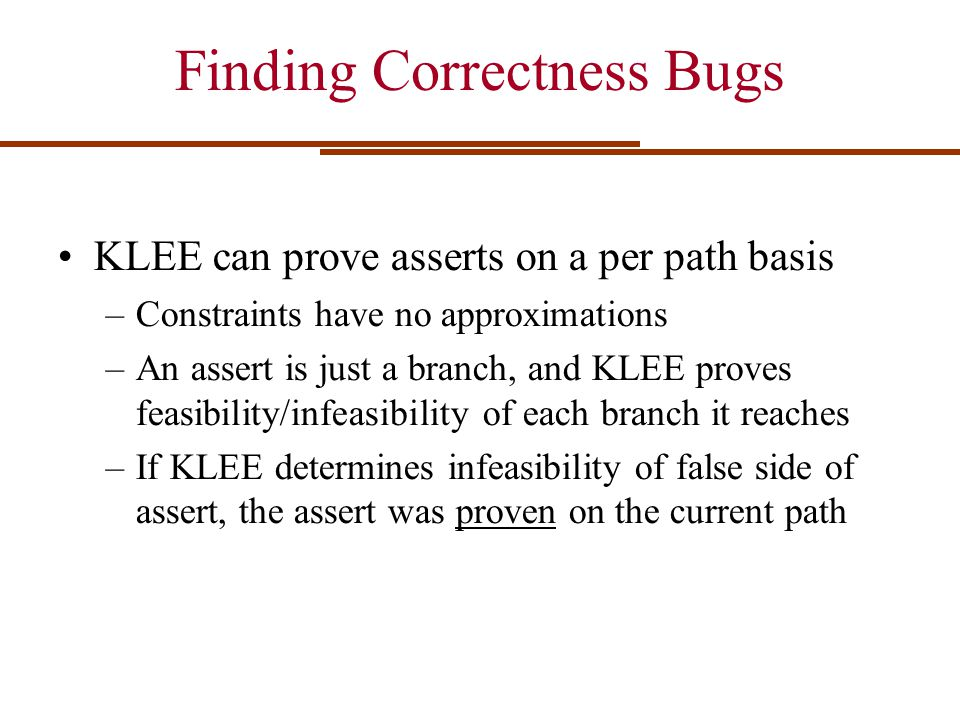 Finding Correctness Bugs