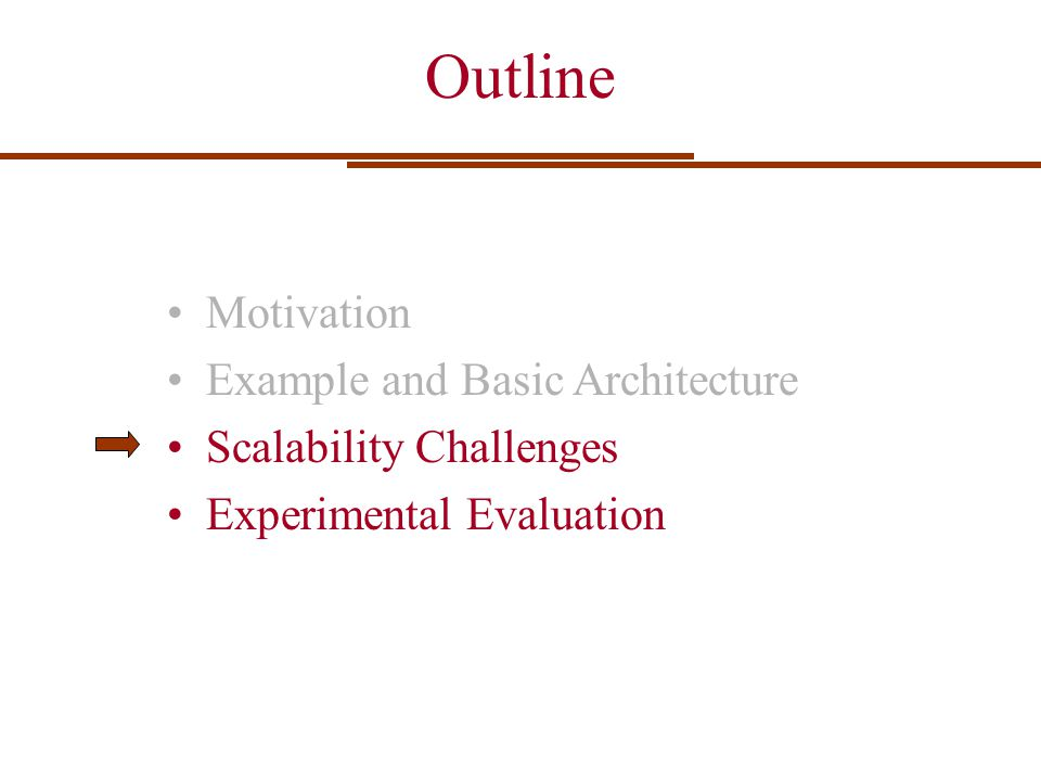 Outline Motivation Example and Basic Architecture